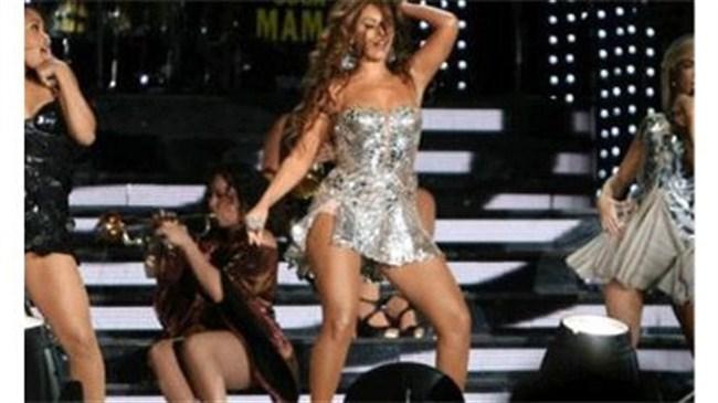 Beyonce'un eteği havalandı!
